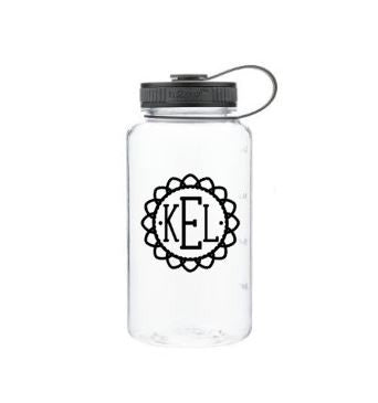 Personalized 34oz Wide Mouth Tritan Water Bottle - Monogram Water Bottle - Personalized Water Bottle