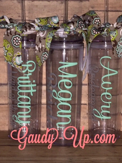 Set of 4 Personalized Tumblers