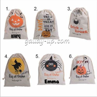Halloween Loot Bags! Halloween Treat Bags! Personalized Halloween Bag! Trick or Treat Bag with Name
