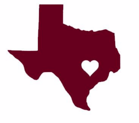 ANY State Car Decal With Hometown Heart