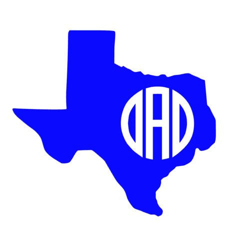 Any State with Circle Monogram Decal! Great for laptop, car, IPad... Personalize Anything!