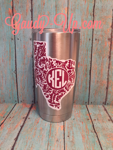 3 Inch Yeti Tumbler Decal 2 Layers 2 Colors Rambler Decals 20oz & 30 oz