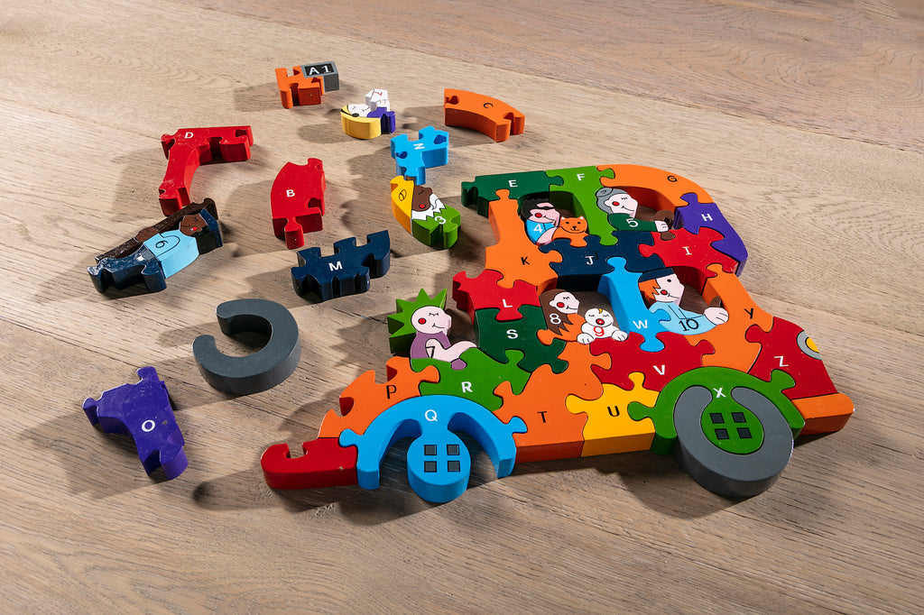 Alphabet Bus Jigsaw Pieces