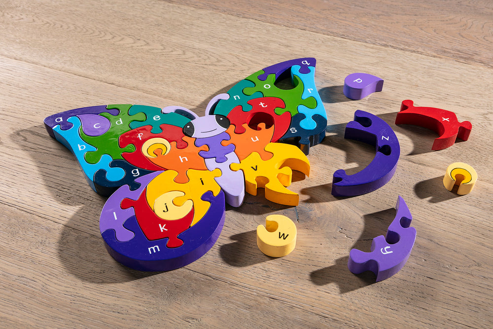 Alphabet Butterfly Jigsaw Puzzle Pieces