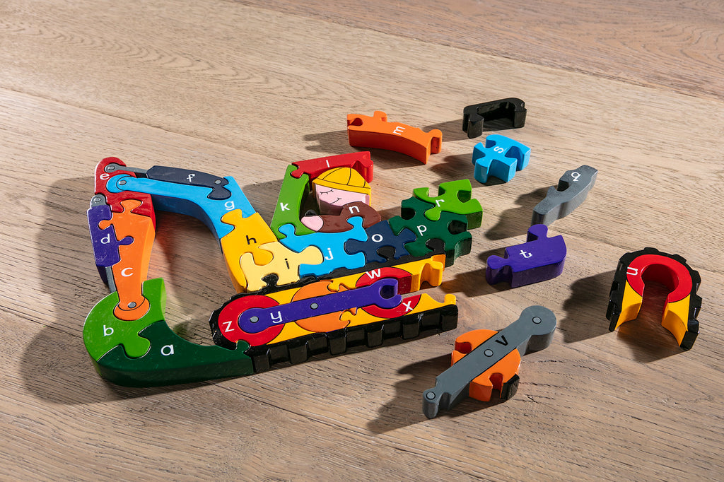 Alphabet Digger Jigsaw Puzzle Pieces