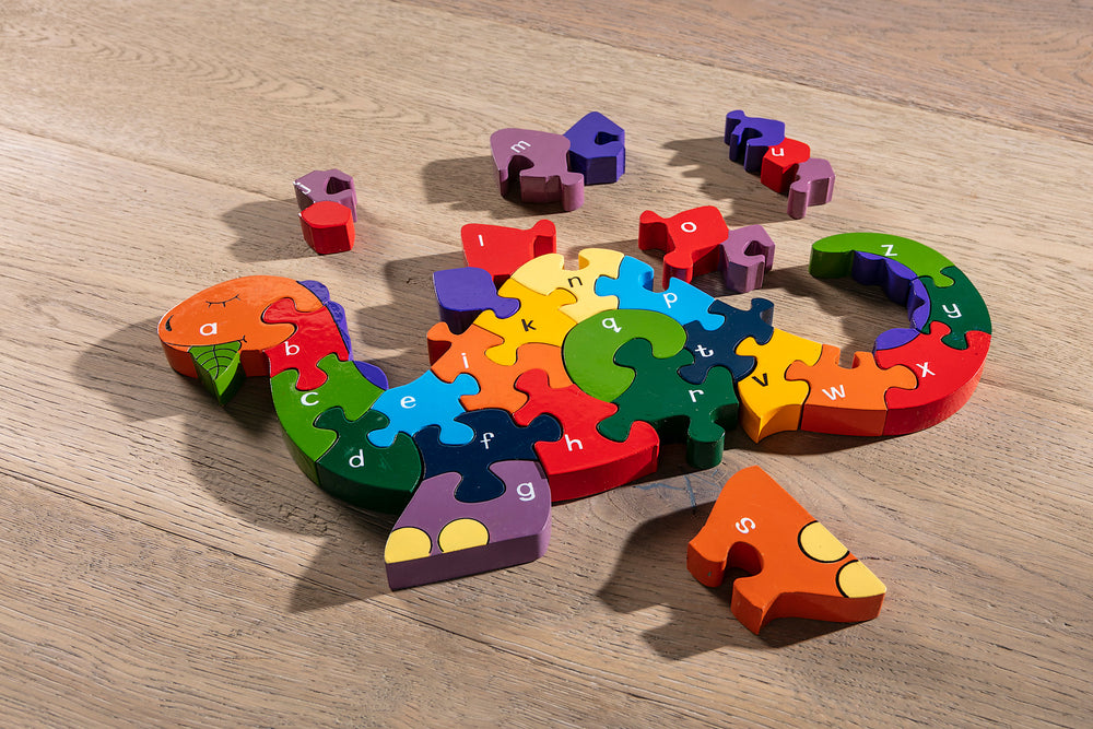 Alphabet Dinosaur Jigsaw Puzzle Pieces