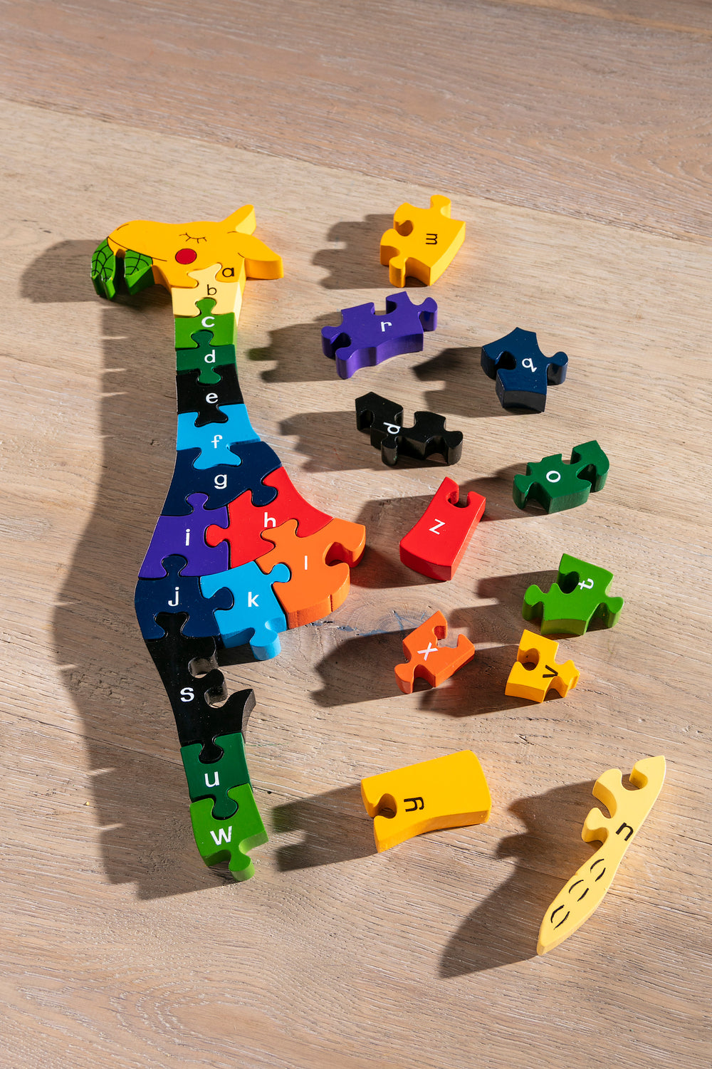 Alphabet Giraffe Jigsaw Pieces