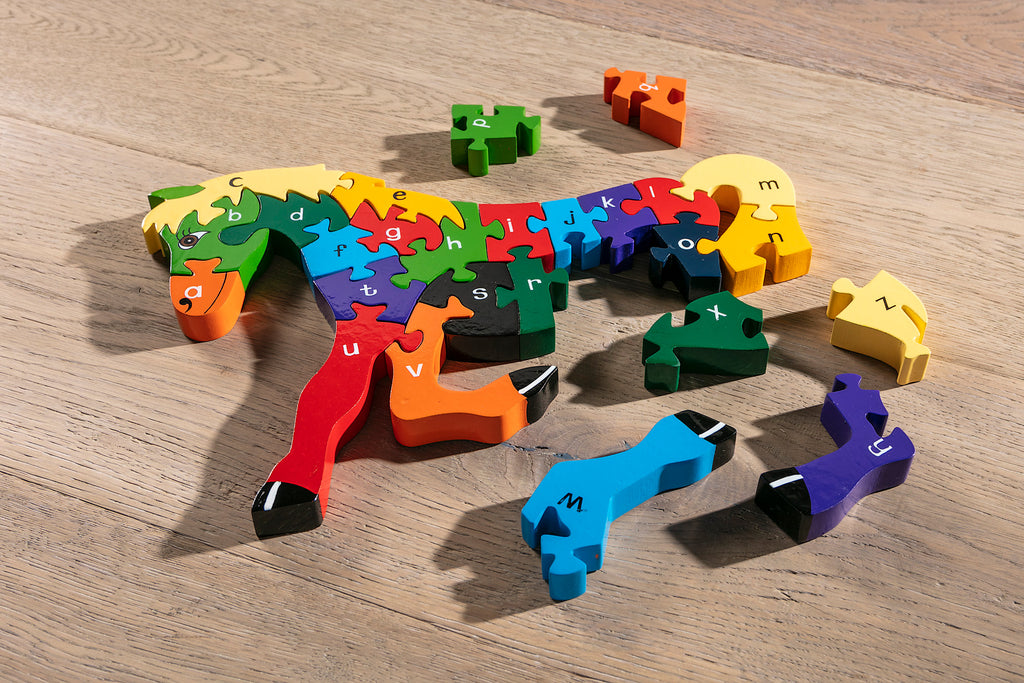 Alphabet Horse Jigsaw Pieces