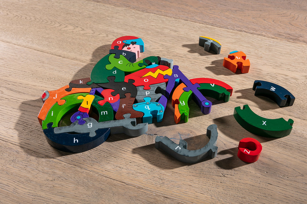 Alphabet Motorbike Jigsaw Pieces
