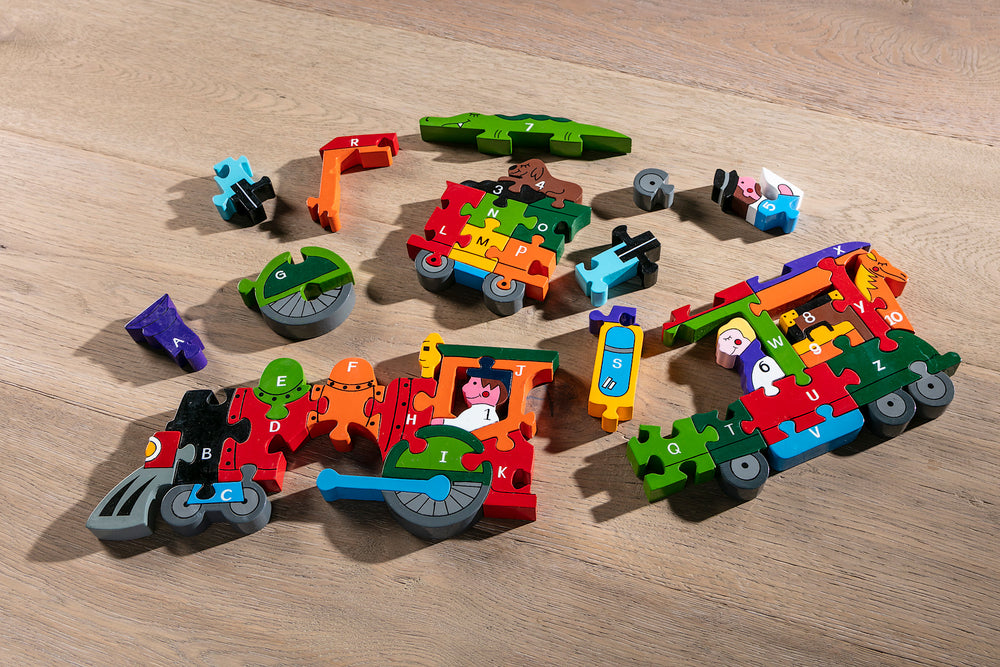 Alphabet Train Jigsaw Pieces
