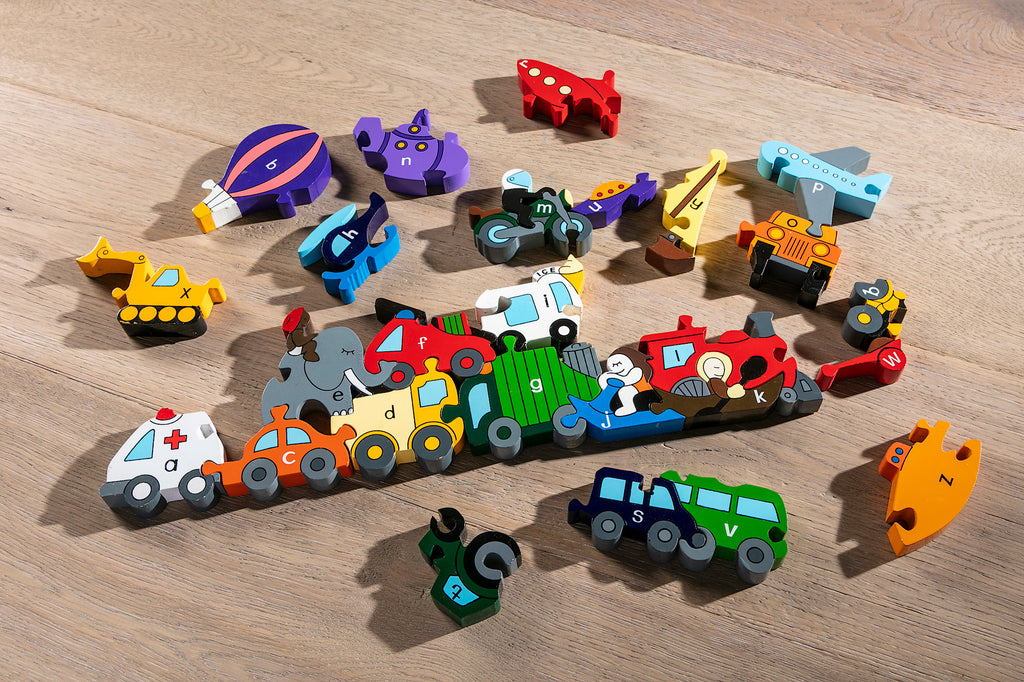 Alphabet Transport Jigsaw & Playset Pieces