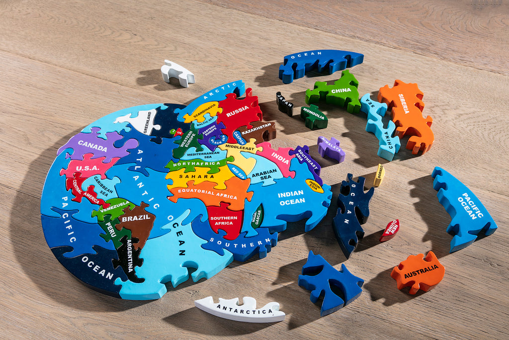 Map of the World Jigsaw Pieces