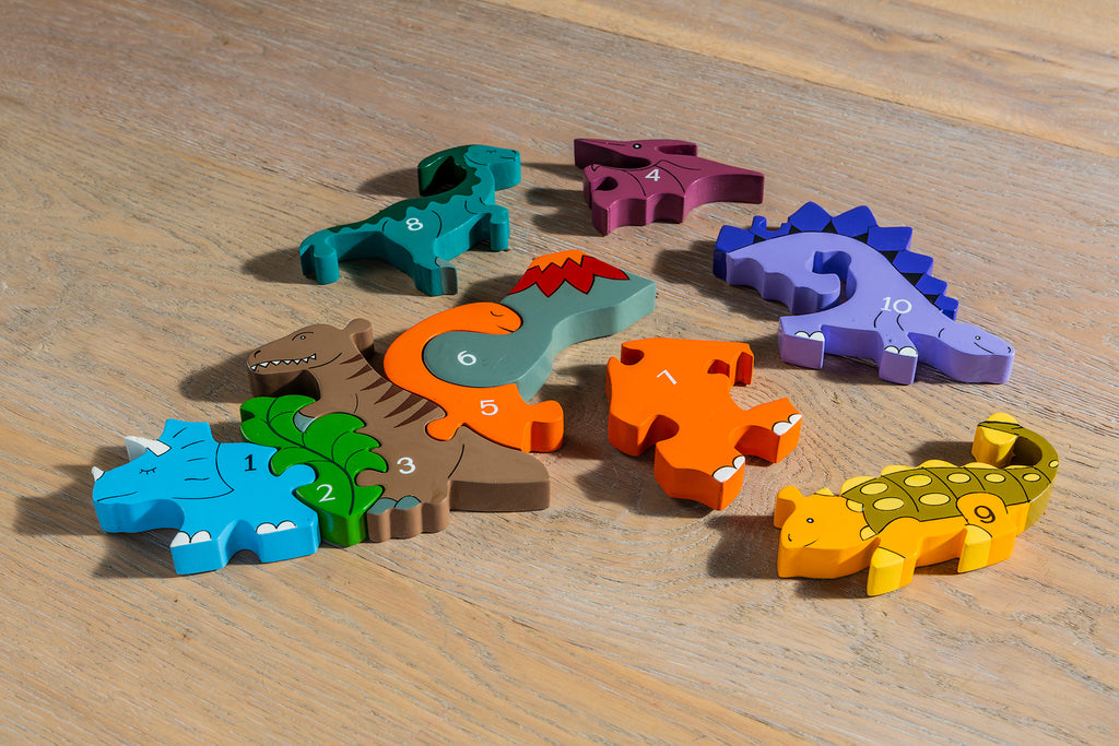 Number Dinosaur Row Jigsaw Pieces