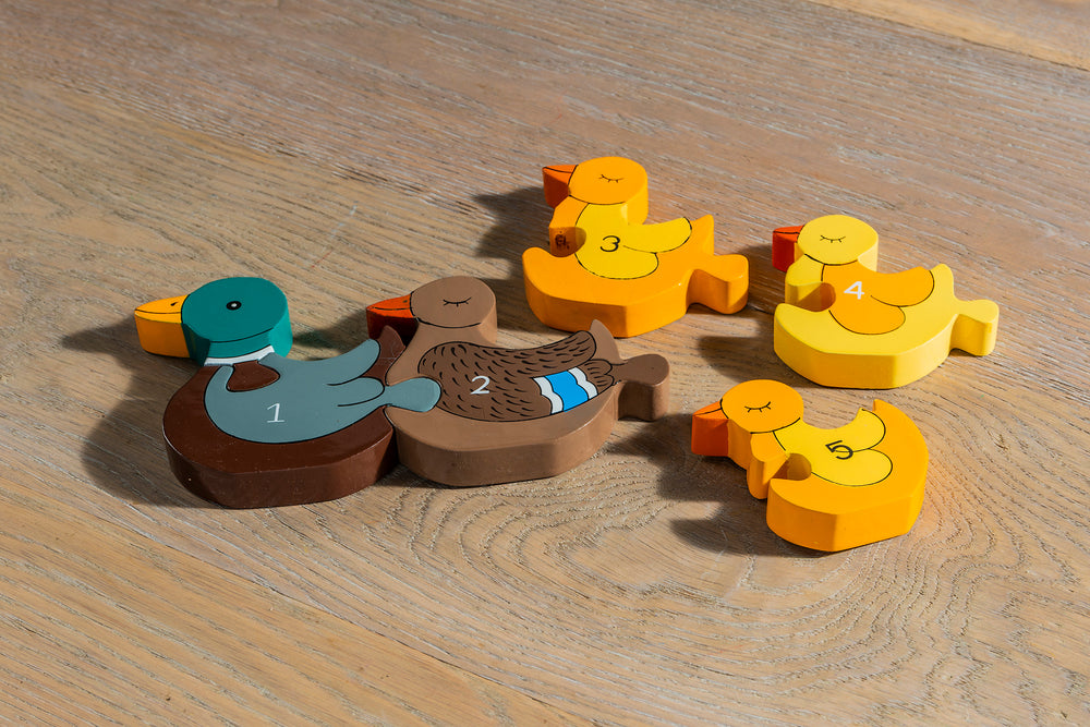 Number Duck Row Jigsaw Pieces 2