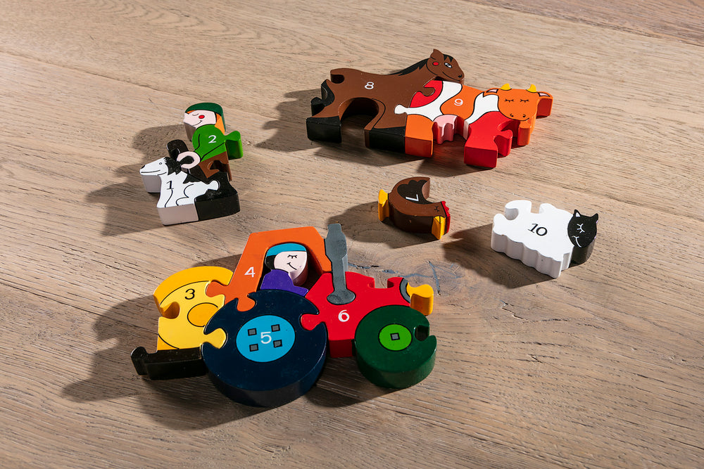Number Farm Jigsaw Puzzle Pieces