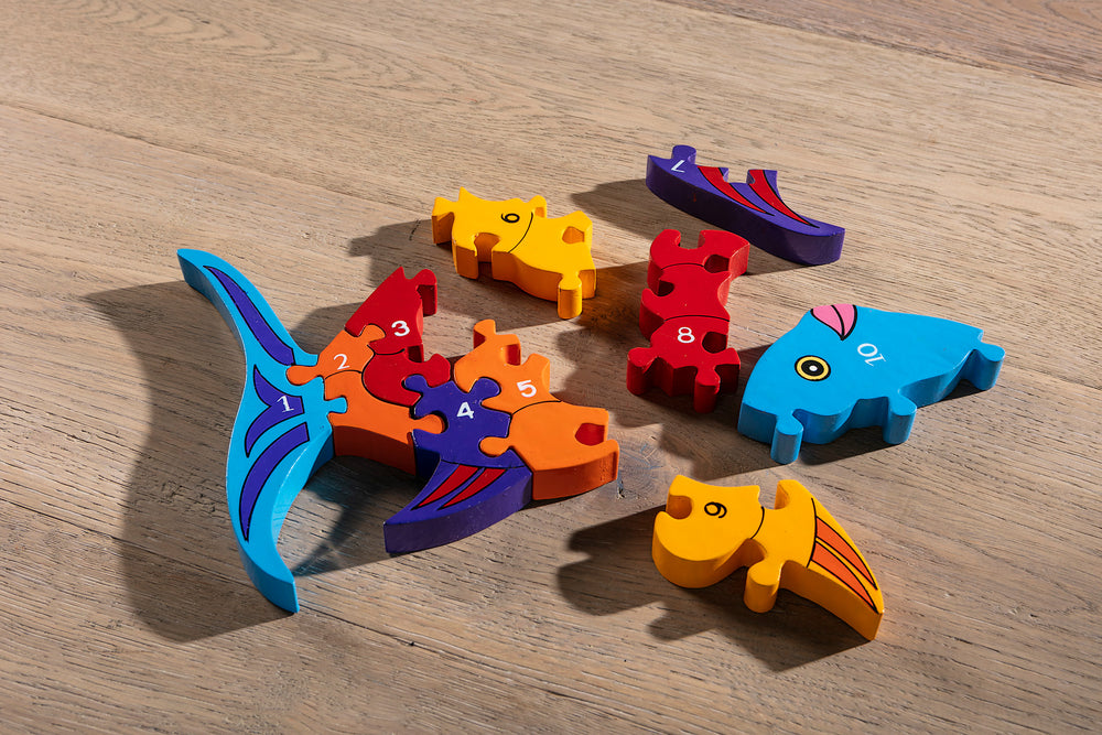 Number Fish Jigsaw Pieces