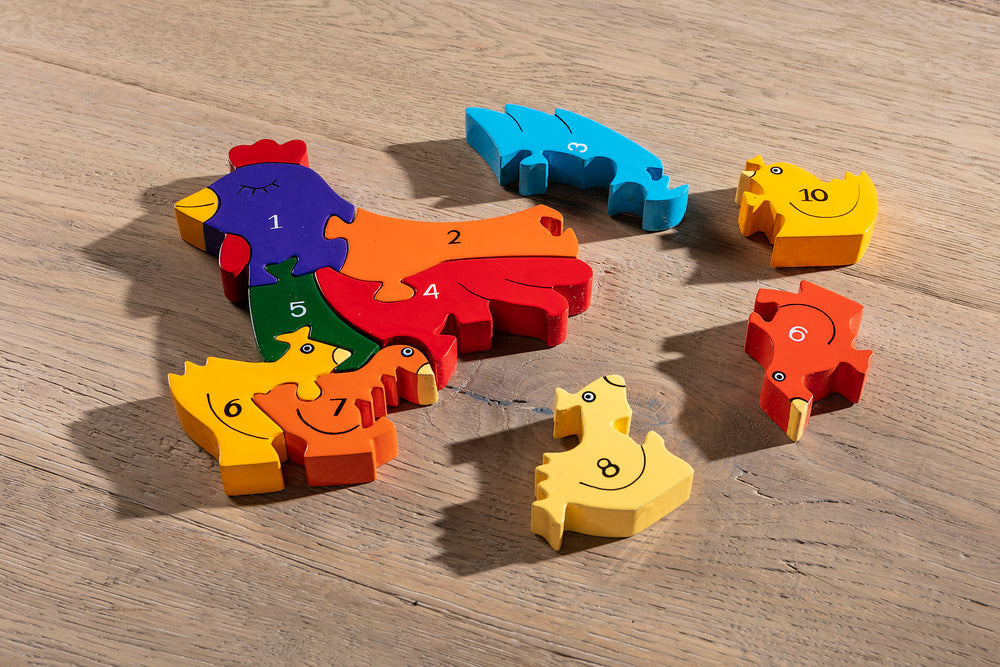 Number Hen Jigsaw Pieces