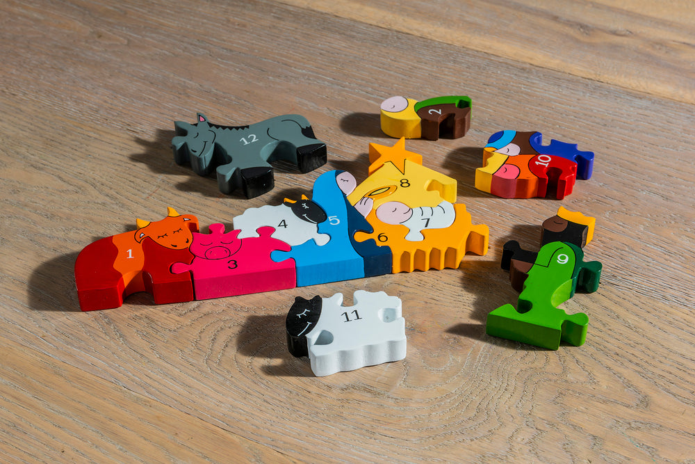 Number Nativity Jigsaw Pieces