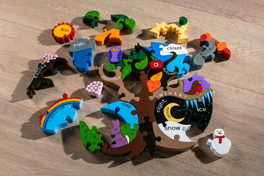 Seasons Jigsaw Puzzle Pieces