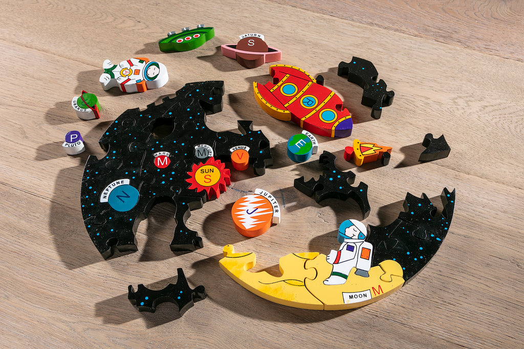 Solar System Jigsaw Puzzle Pieces