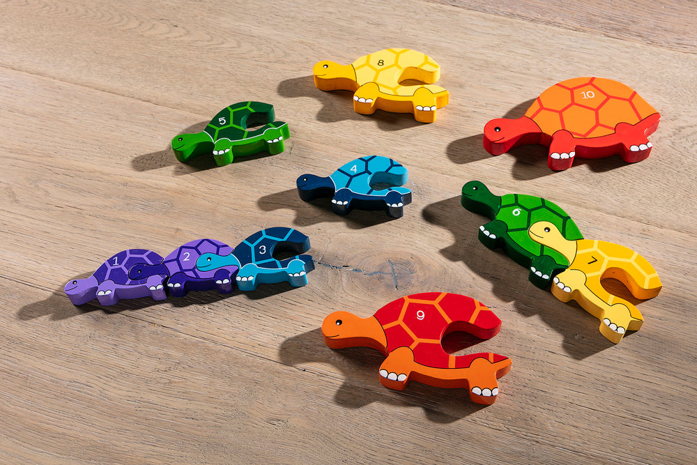 Number Tortoise Row Jigsaw Pieces 1