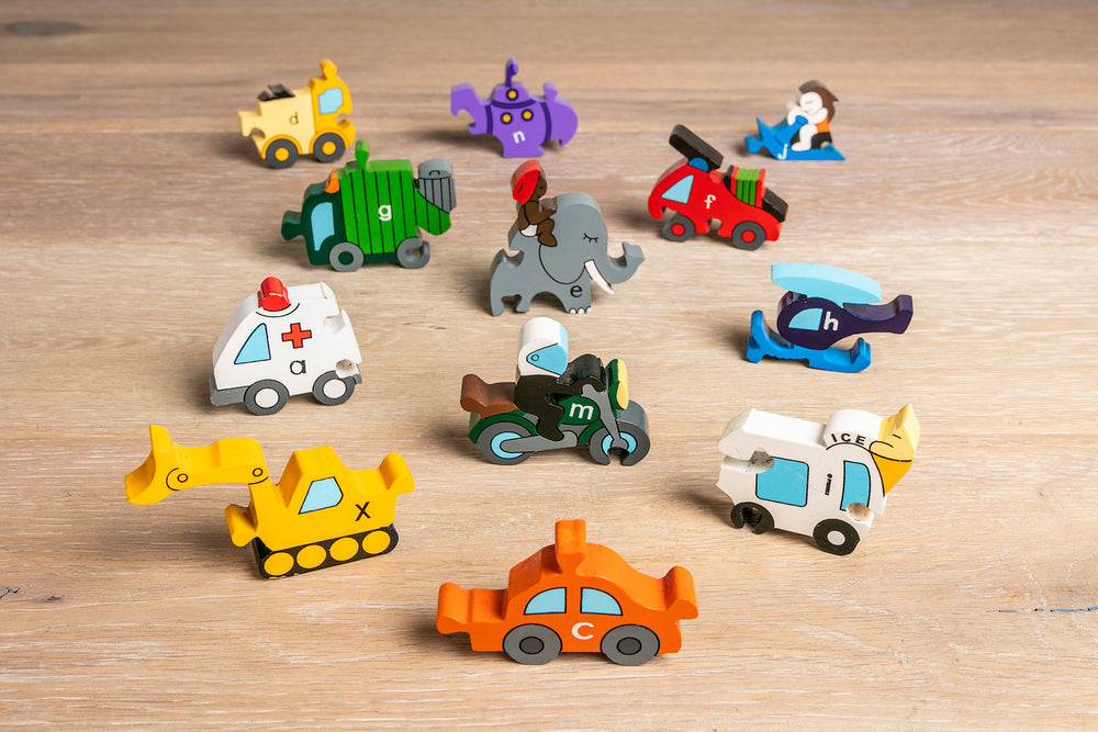 Alphabet Transport Jigsaw & Playset Pieces 2