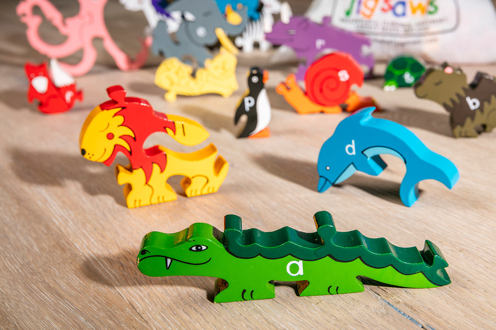 Alphabet Zoo Jigsaw & Playset Pieces Zoomed