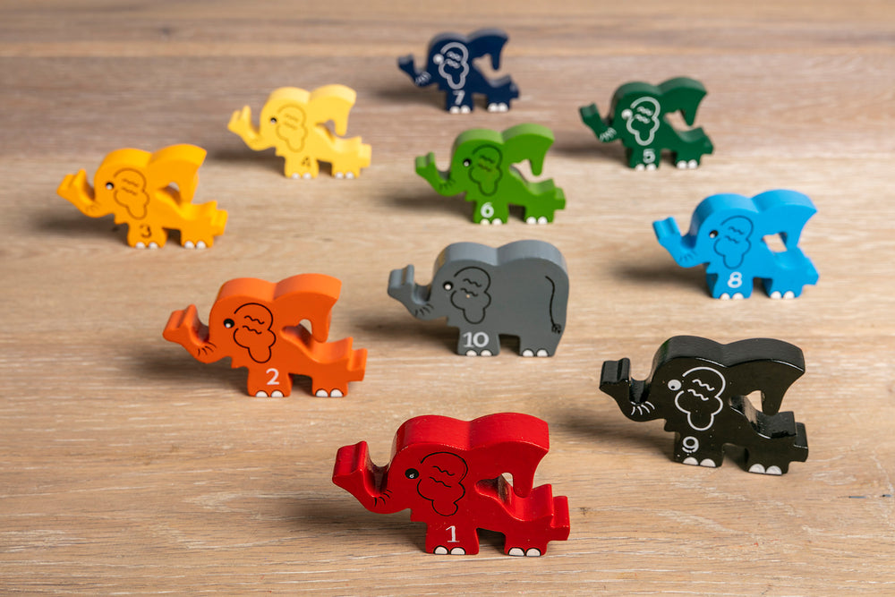 Number Elephant Row Jigsaw
