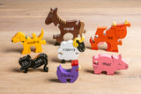 Farm Animals in Irish Jigsaw Puzzle (As Gaeilge)