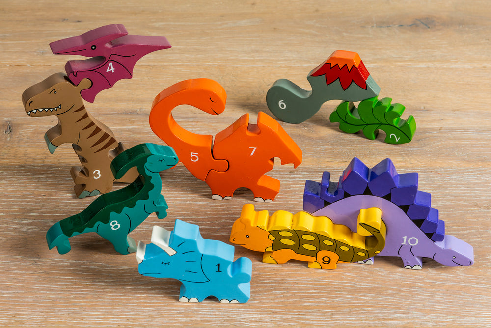 Number Dinosaur Row Jigsaw Pieces 2