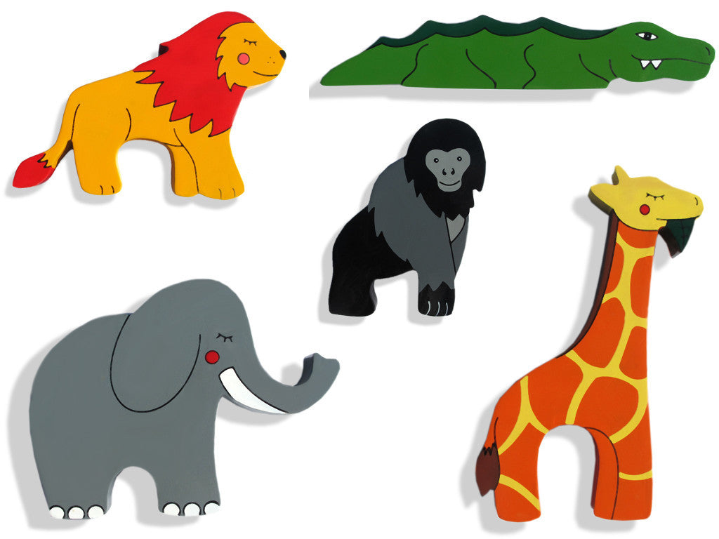 African Safari Animals Magnet Set (5 magnets)