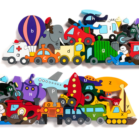 Alphabet Transport Jigsaw & Playset