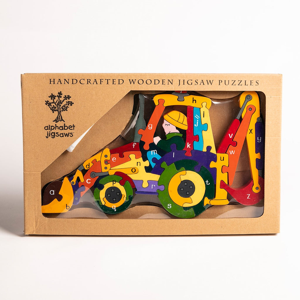 Alphabet Backhoe Jigsaw Puzzle Boxed
