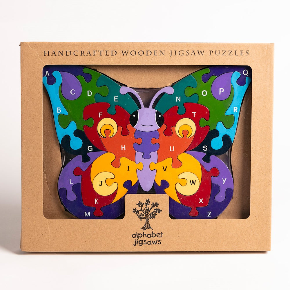 Alphabet Butterfly Jigsaw Puzzle Boxed