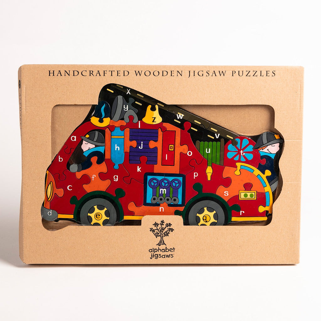 Alphabet Fire Engine Jigsaw Puzzle Boxed