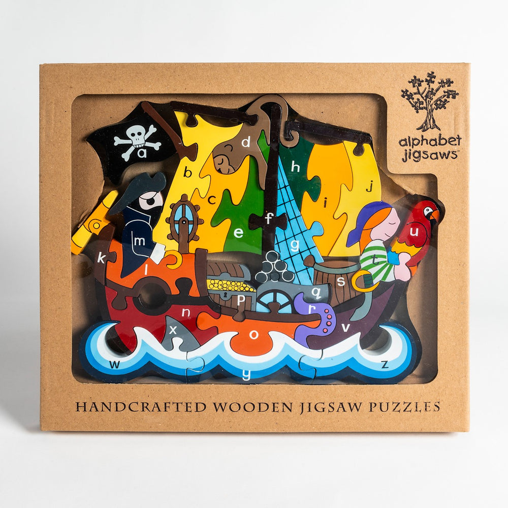 Alphabet Pirate Ship Jigsaw Puzzle Boxed