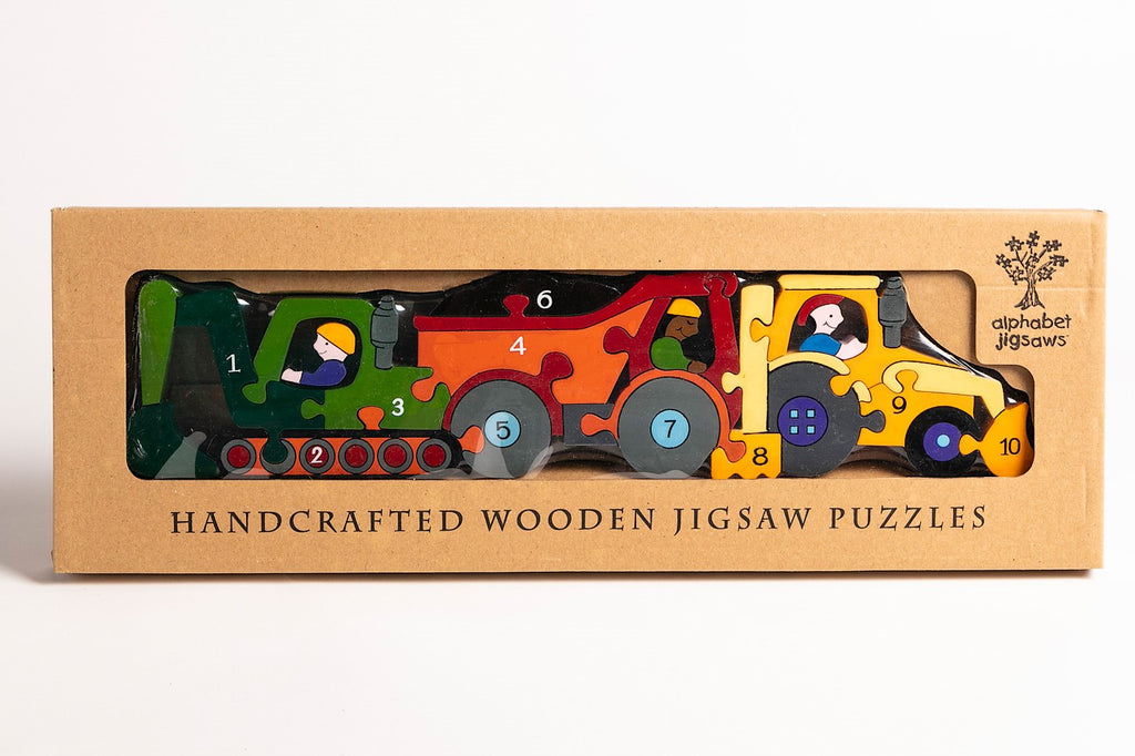Number Construction Row Jigsaw Puzzle Boxed