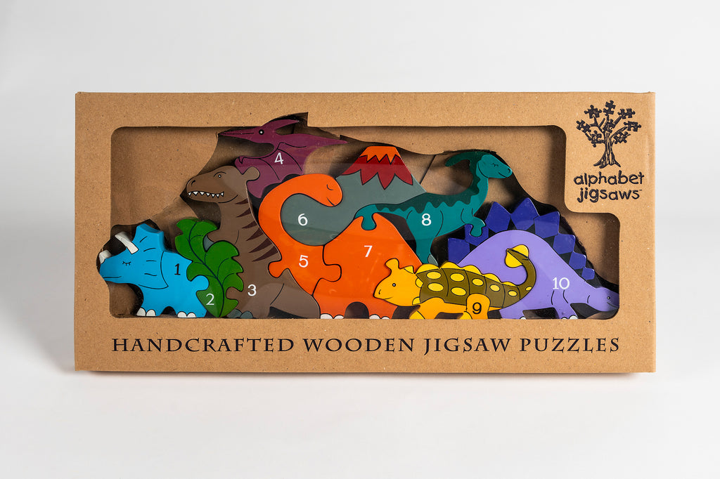 Number Dinosaur Row Jigsaw Puzzle Boxed