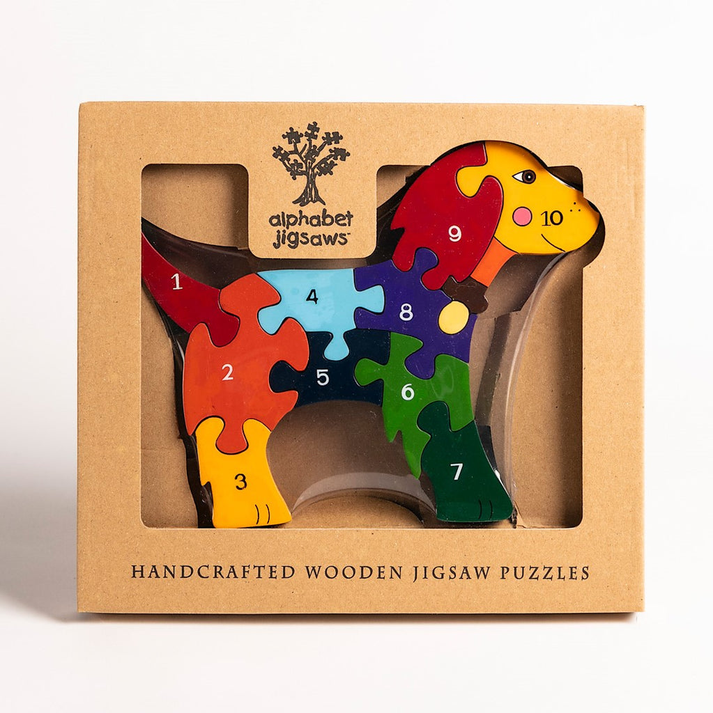 Number Dog Jigsaw Puzzle Boxed