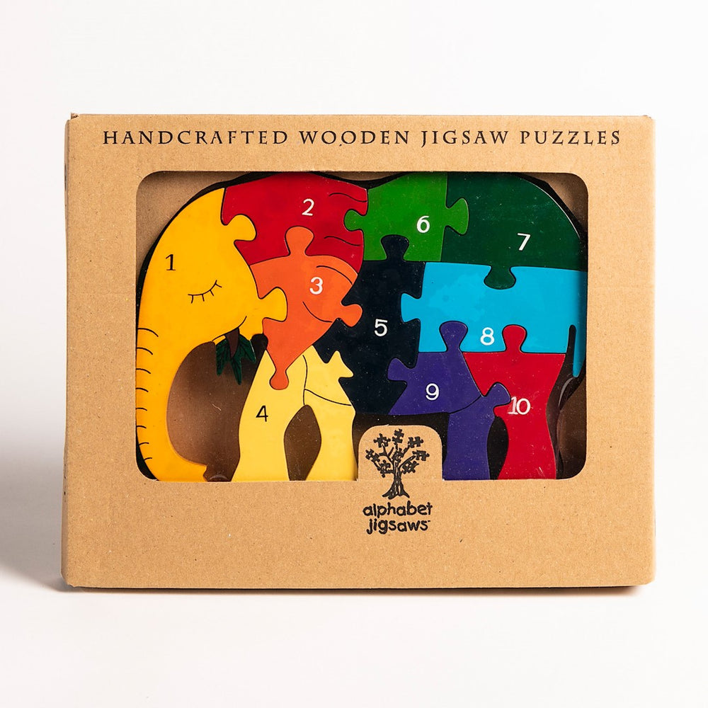 Number Elephant Jigsaw Puzzle Boxed