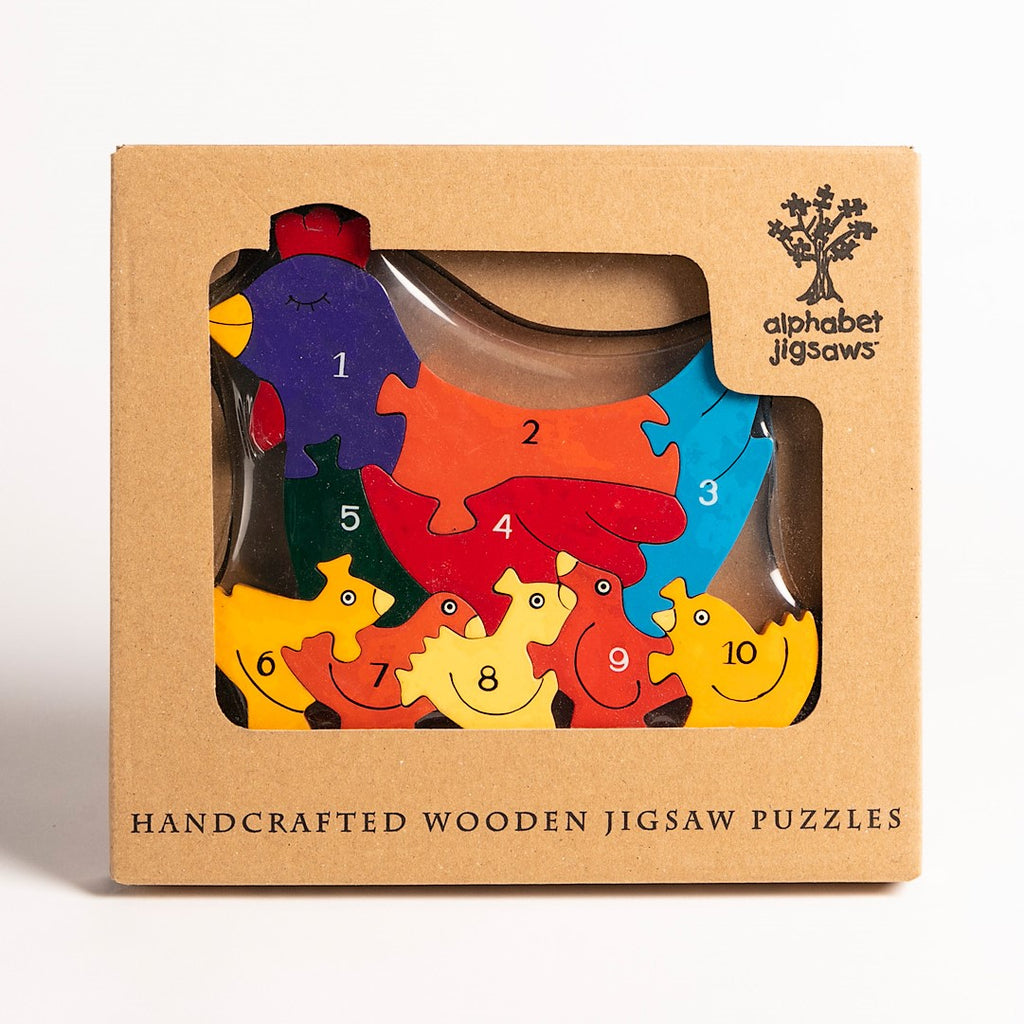 Number Hen Jigsaw Puzzle Boxed