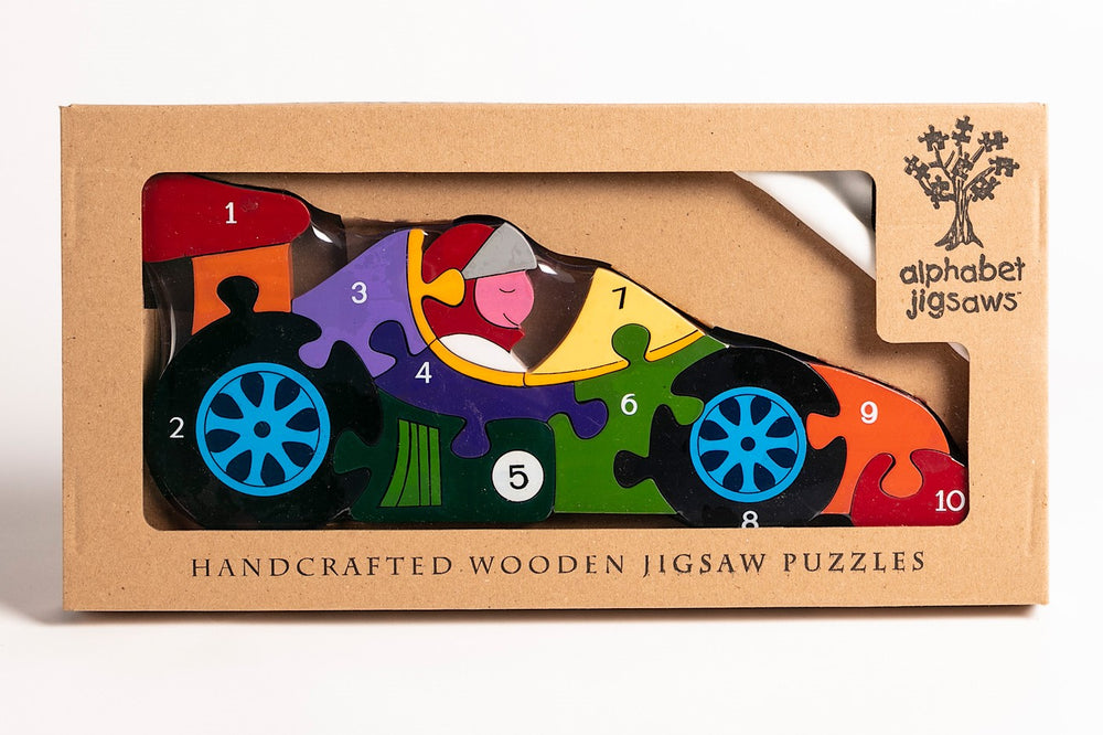 Number Racing Car Jigsaw Puzzle Boxed