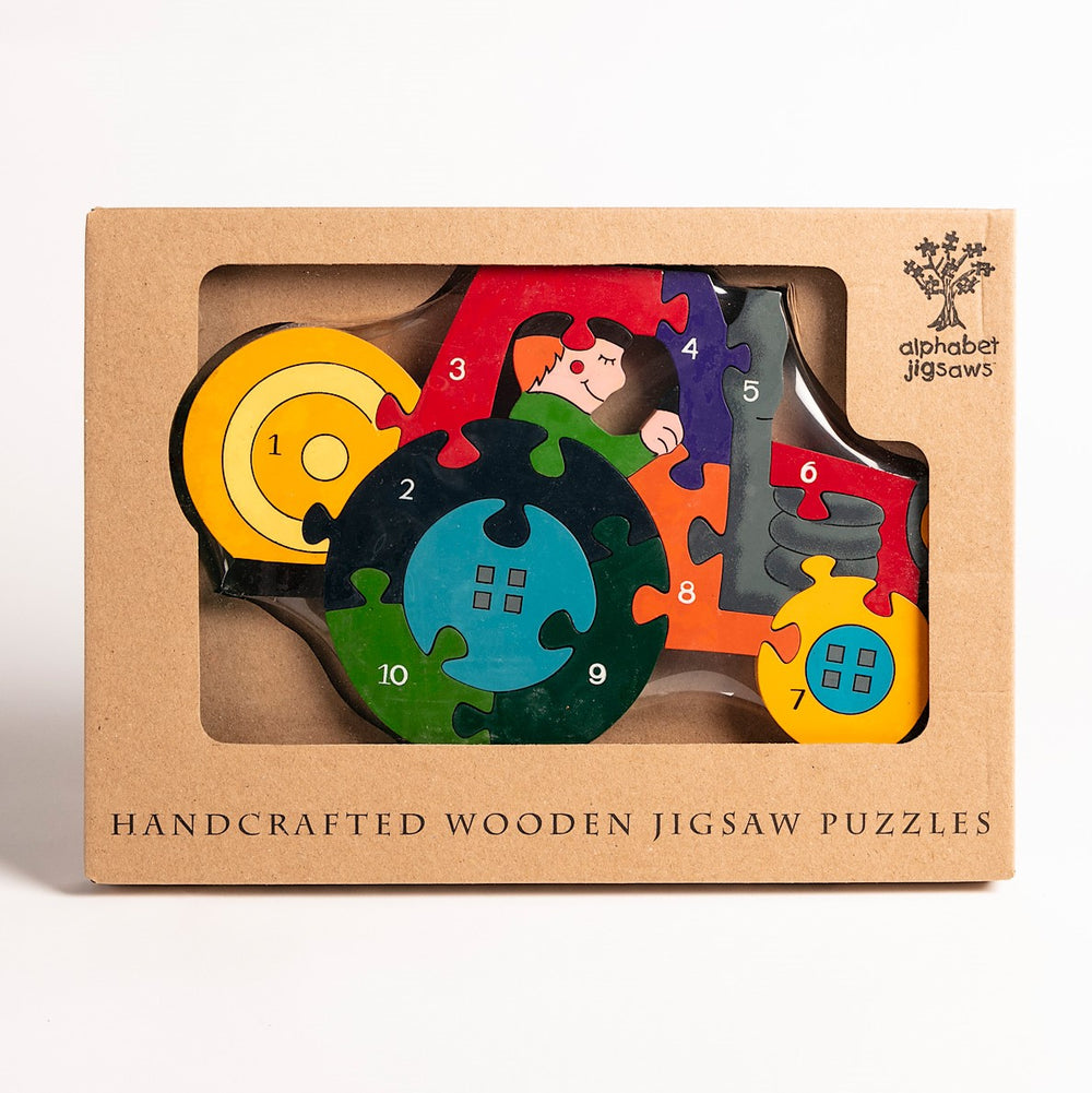 Number Tractor Jigsaw Puzzle Boxed