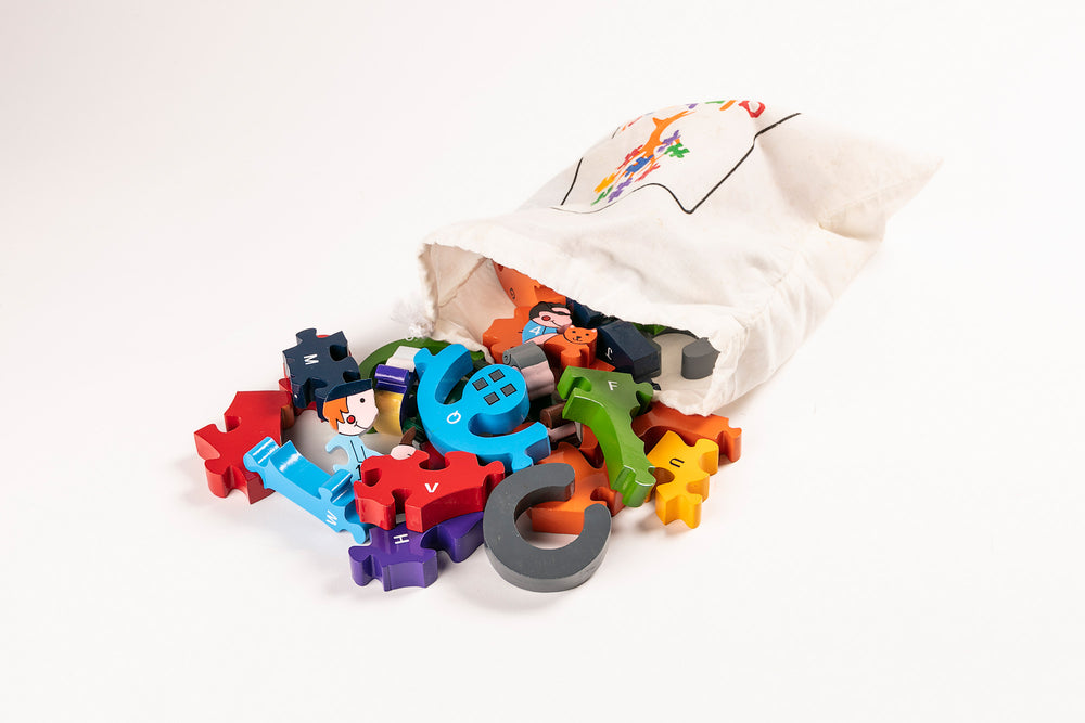 Alphabet Bus Jigsaw Puzzle Bag