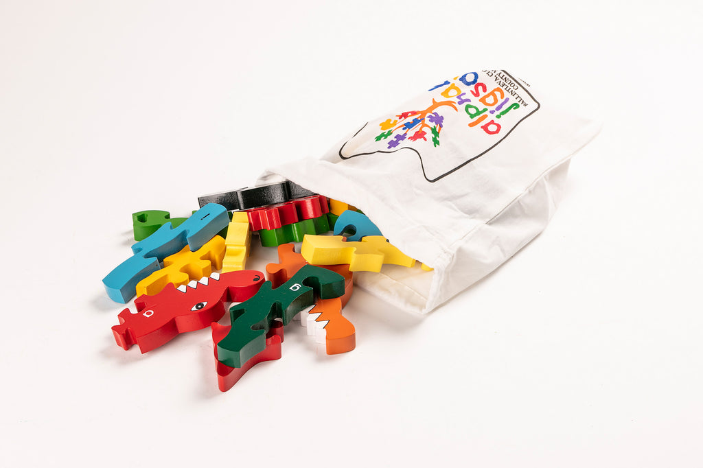 Alphabet Crocodile Jigsaw Puzzle Bag