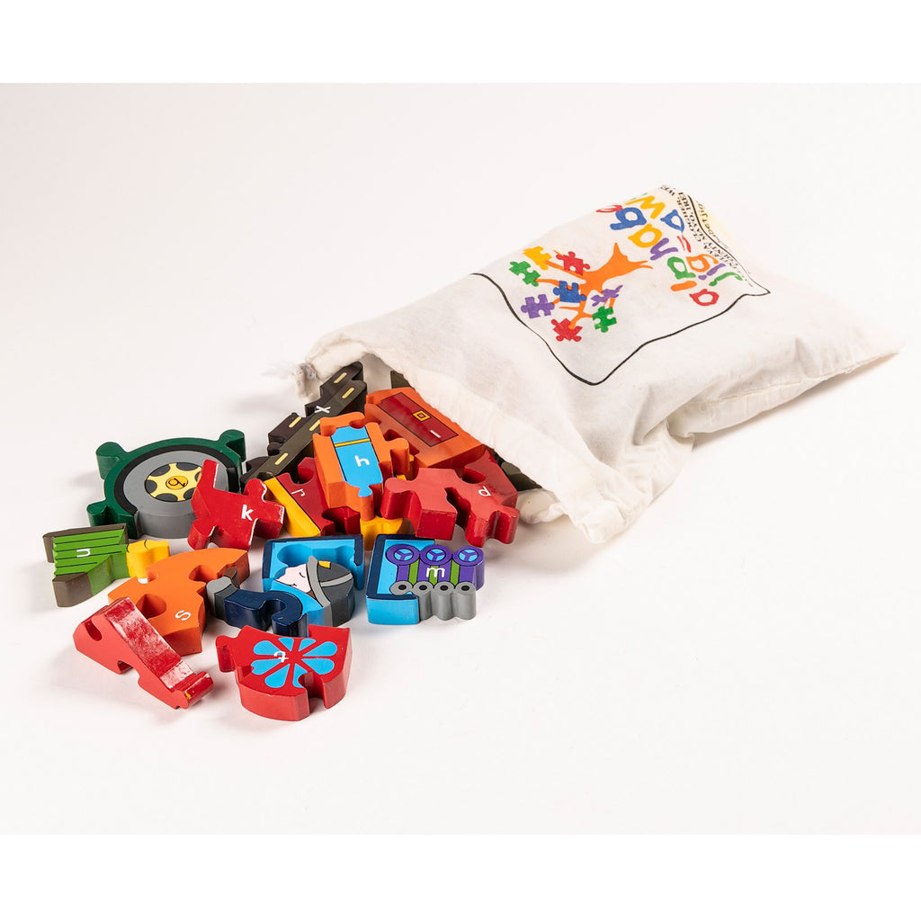Alphabet Fire Engine Jigsaw Puzzle Bag