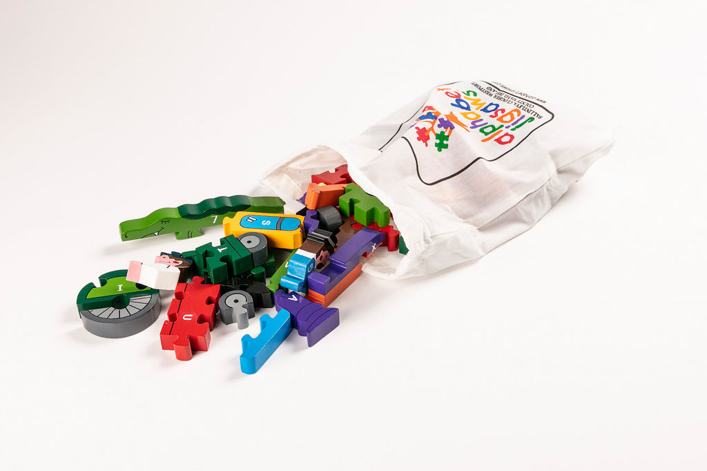 Alphabet Train Jigsaw Puzzle Bag