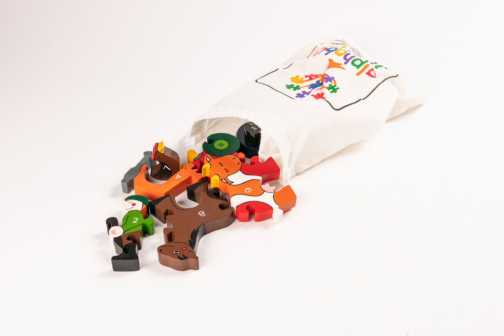 Number Farm Jigsaw Puzzle Bag