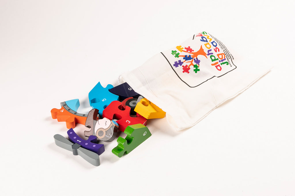 Number Plane Jigsaw Puzzle Bag