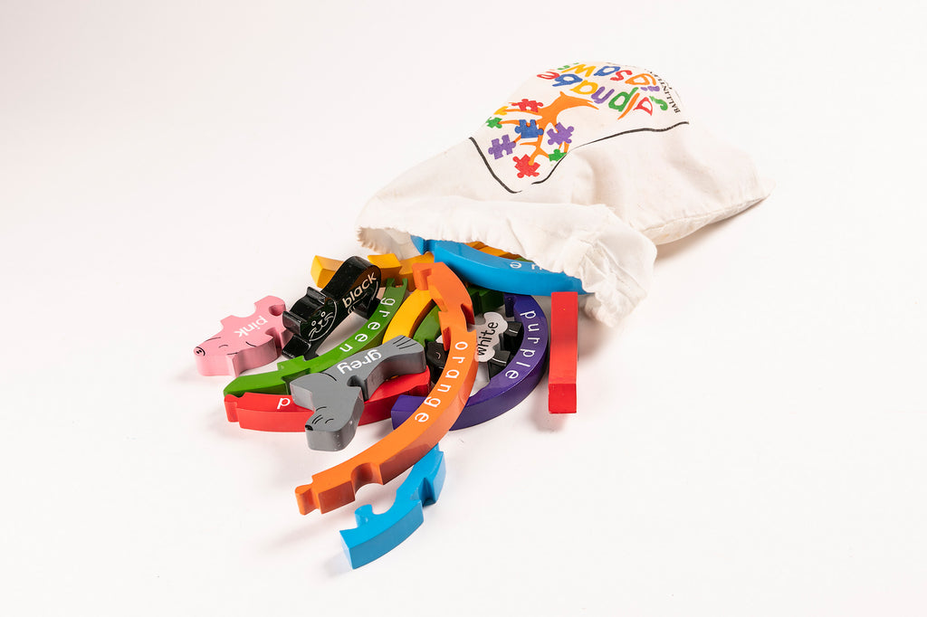 Rainbow Jigsaw Puzzle Bag